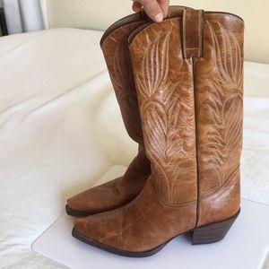 Steve Madden Leather Cowboy Boots